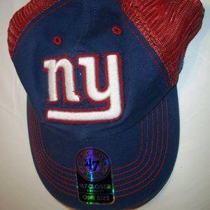 new '47 New York Giants closer stretch hat cap
